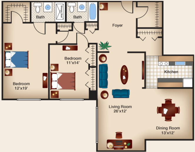 Two Bedroom IV